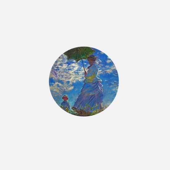 Monet - Woman with a Parasol Mini Button