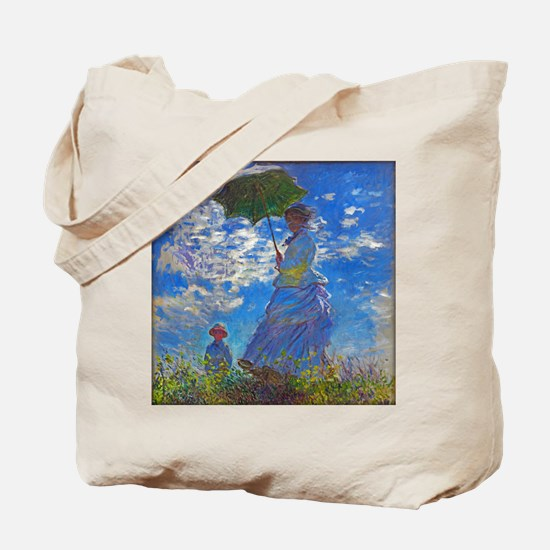 Monet - Woman with a Parasol Tote Bag