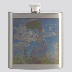 Monet - Woman with a Parasol Flask