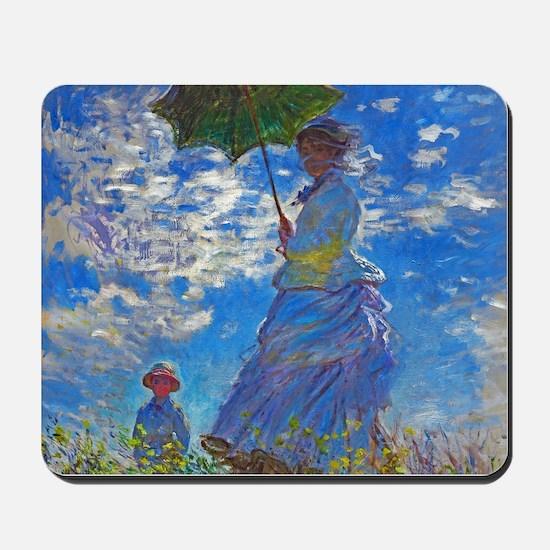Monet - Woman with a Parasol Mousepad