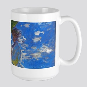 Monet - Woman with a Parasol Large Mug