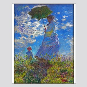 Monet - Woman with a Parasol Small Poster