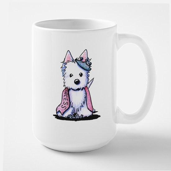 Westie Princess Sparkleheart Large Mug