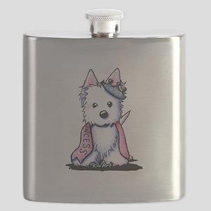 Westie Princess Sparkleheart Flask