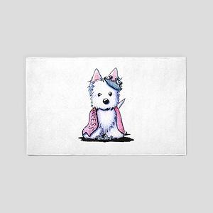 Westie Princess Sparkleheart 3'x5' Area Rug