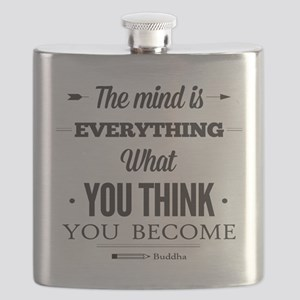 Buddha Saying - The Mind Is Everything ... Flask