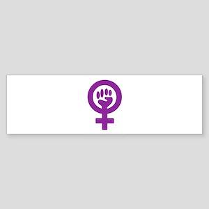 StickerRectanglePortrait_feministfist Bumper Stick