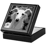 Silken Windhound Portrait Keepsake Box