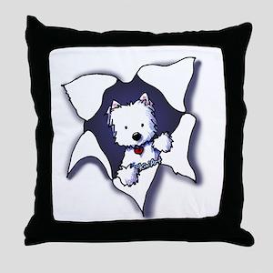 KiniArt Westie BLAST Throw Pillow