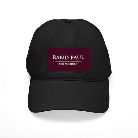 Vote Rand Paul President Black Cap