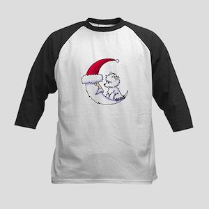 Santa Moon Westie Kids Baseball Jersey