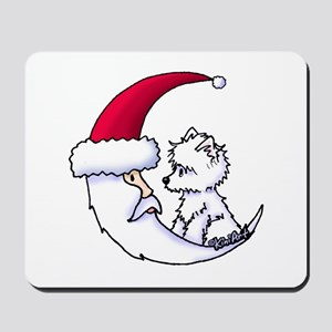 Santa Moon Westie Mousepad
