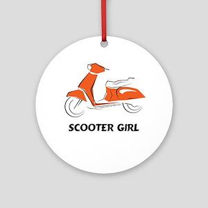 Scooter Girl (Orange) Ornament (Round)