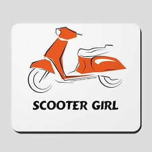 Scooter Girl (Orange) Mousepad