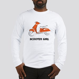 Scooter Girl (Orange) Long Sleeve T-Shirt