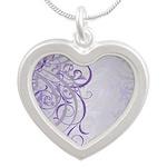 Vintage Rococo Purple Damask Necklaces
