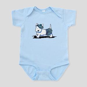 KiniArt Westie Blue Kilt Infant Bodysuit