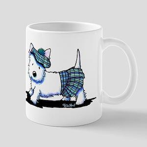 KiniArt Westie Blue Kilt Mug