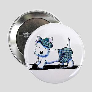 "KiniArt Westie Blue Kilt 2.25"" Button"