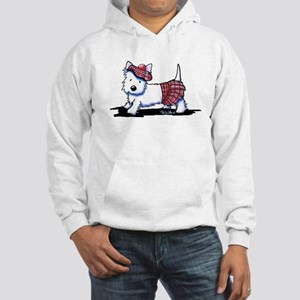 KiniArt Westie Red Kilt Hooded Sweatshirt