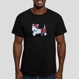 KiniArt Westie Red Kil Men's Fitted T-Shirt (dark)