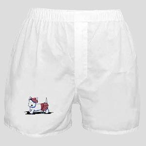 KiniArt Westie Red Kilt Boxer Shorts