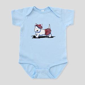 KiniArt Westie Red Kilt Infant Bodysuit