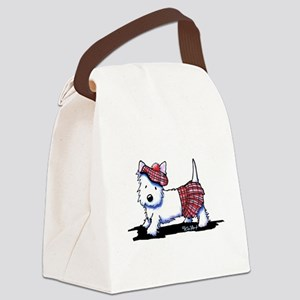 KiniArt Westie Red Kilt Canvas Lunch Bag