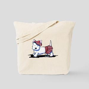 KiniArt Westie Red Kilt Tote Bag