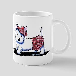 KiniArt Westie Red Kilt Mug