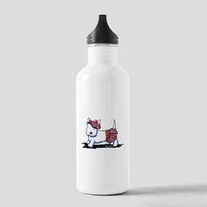 KiniArt Westie Red Kil Stainless Water Bottle 1.0L