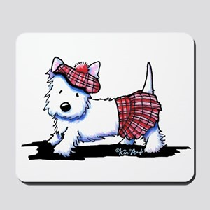 KiniArt Westie Red Kilt Mousepad