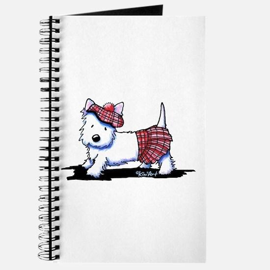 KiniArt Westie Red Kilt Journal