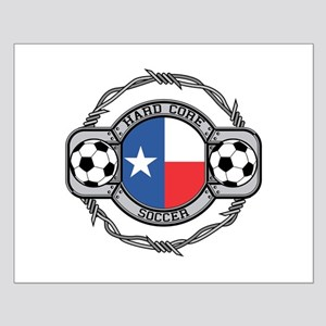 Texas Soccer Small Poster