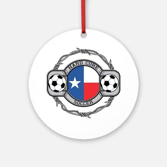 Texas Soccer Ornament (Round)
