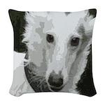 New Silken Portrait Woven Throw Pillow