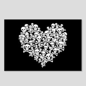 Skull Heart Postcards (Package of 8)