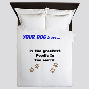 Greatest Poodle In The World Queen Duvet