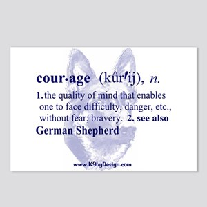 Courage--German Shepherd Postcards (Package of 8)