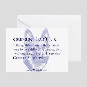 Courage--German Shepherd Greeting Cards (Package o