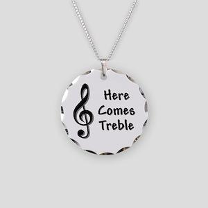 Treble-Black Necklace