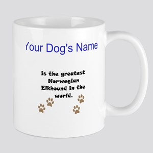Greatest Norwegian Elkhound In The World Small Mug