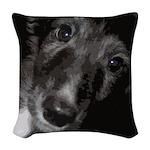 Silken Puppy Love Woven Throw Pillow