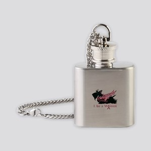 Scottish Breast Cancer Warrior Flask Necklace