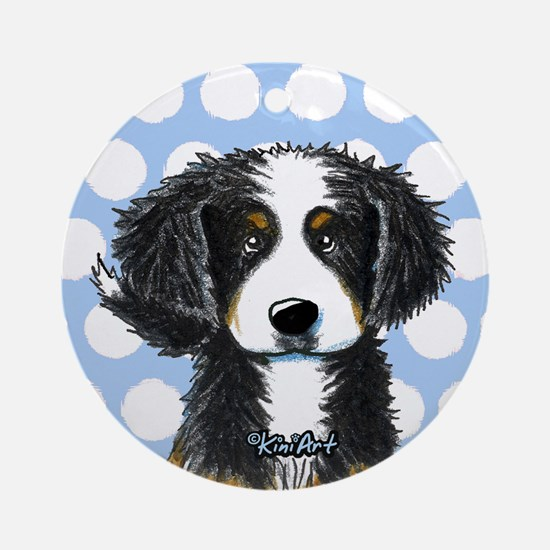 KiniArt Bernese Ornament (Round)