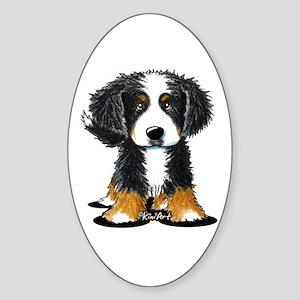 KiniArt Bernese Sticker (Oval)
