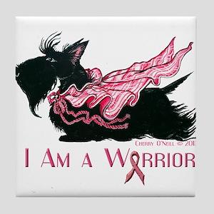 Scottish Breast Cancer Warrior Tile Coaster