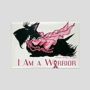 Scottish Breast Cancer Warrior Rectangle Magnet