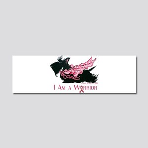 Scottish Breast Cancer Warrior Car Magnet 10 x 3