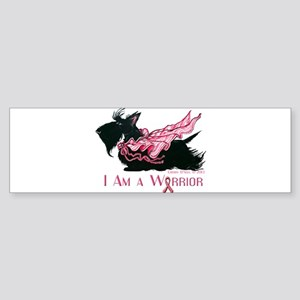 Scottish Breast Cancer Warrior Bumper Sticker
